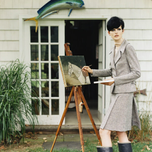 A woman painting creative living