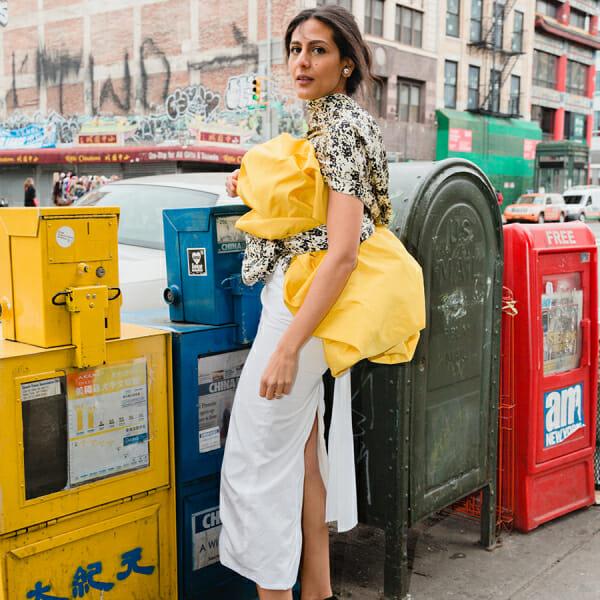 Nadine Farag repurposes fabric for sustainable fashion
