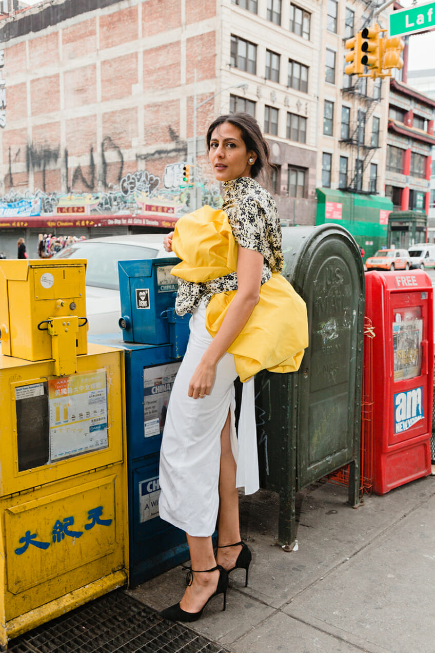 Nadine Farag repurposes fabric for sustainable fashion