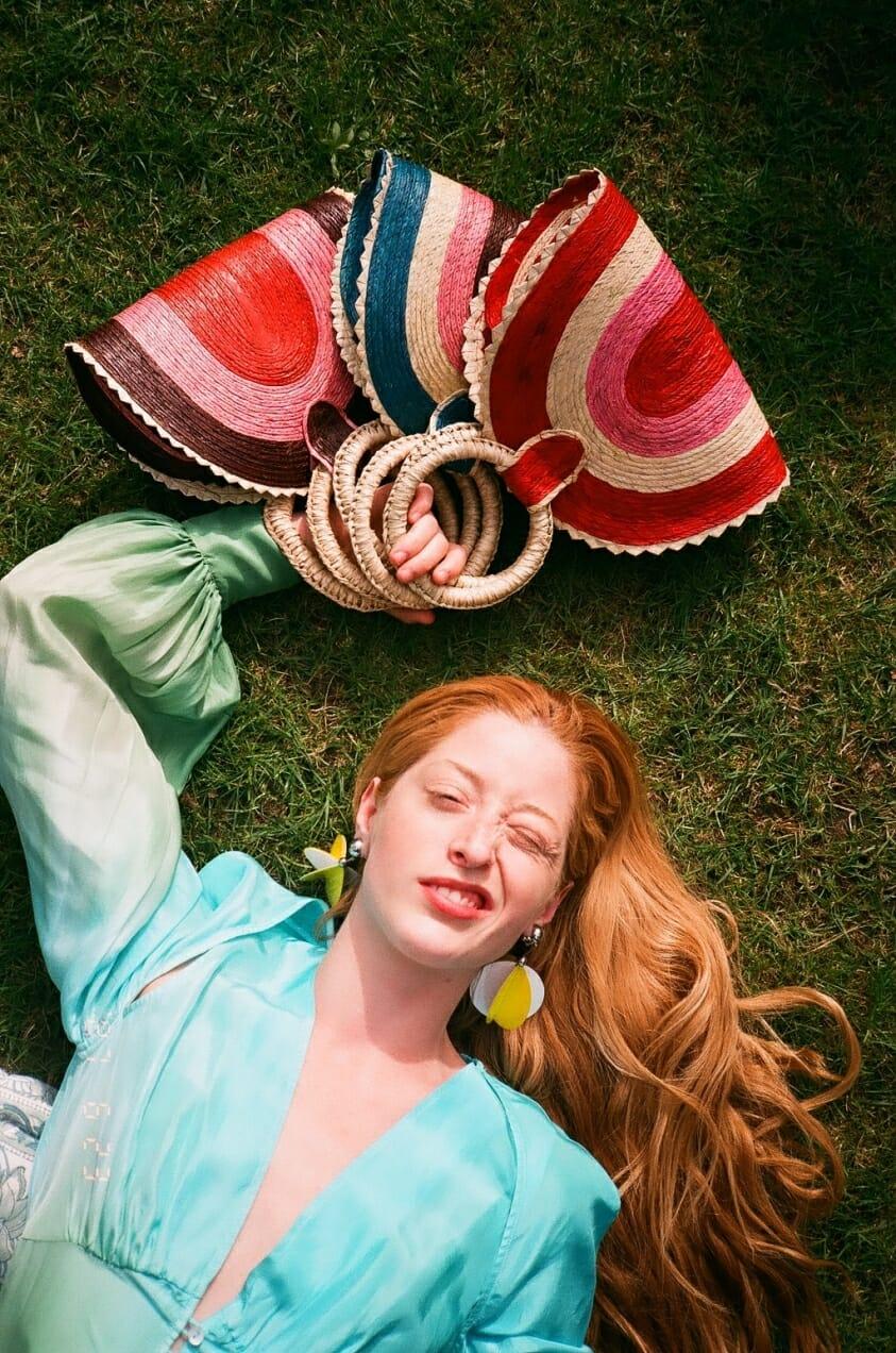 Stella von Senger models spring colors.