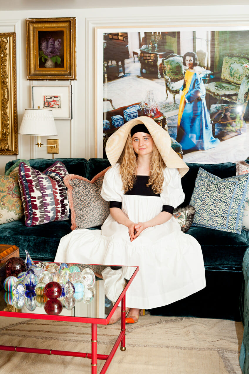 Harling Ross tests Instagram trends and wears a floppy hat at the Kip's Bay Showhouse.