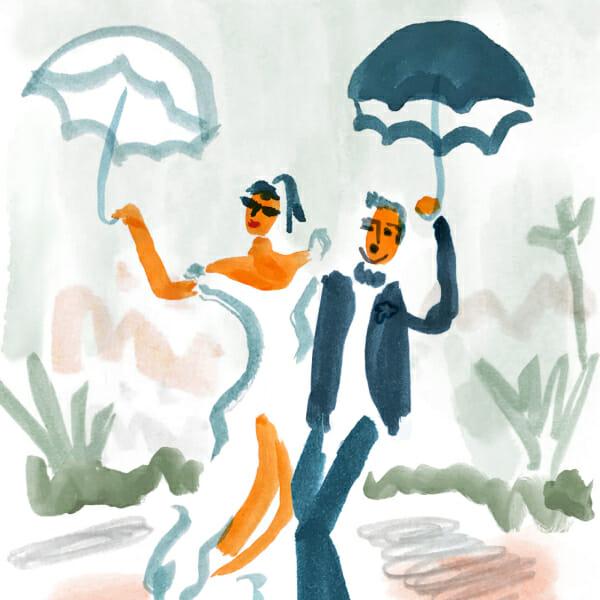 Stressful wedding chill bride