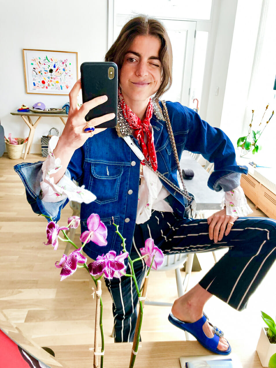 What do you wear to feel like your best self? Leandra takes a selfie.