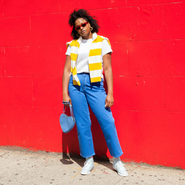 Imani Randolph models how to style different silhouettes of sneakers.