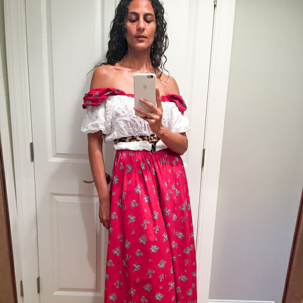 Nadine Farag took 30 Days of Outfit Selfies for Man Repeller in August 2018.