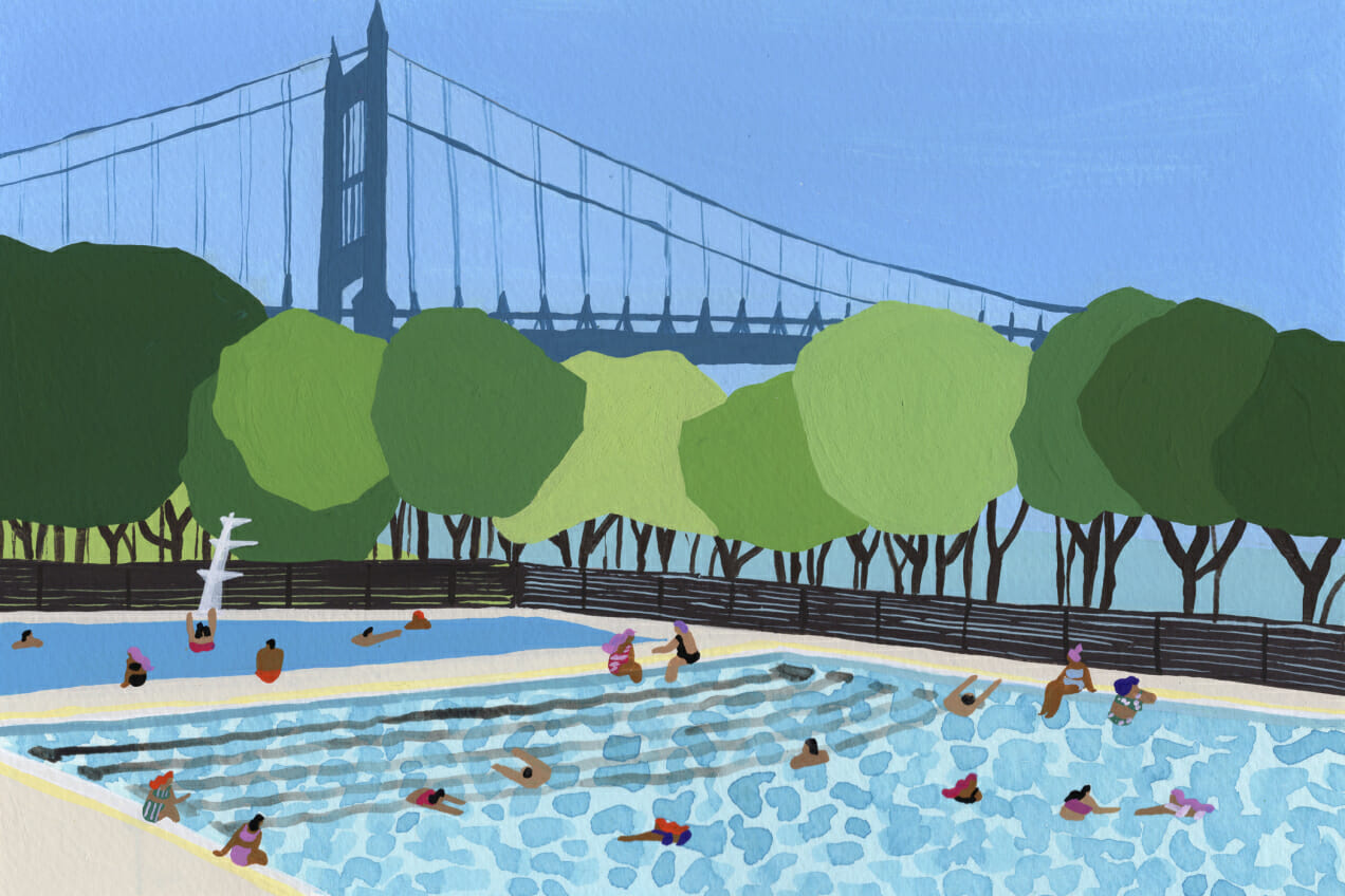 NYC Public Pools Man Repeller Summer 2018
