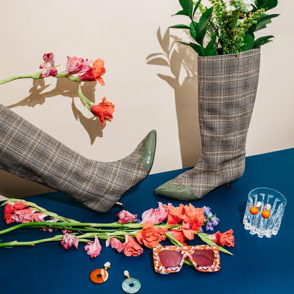 tibi boots pucci sunglasses earrings flowers