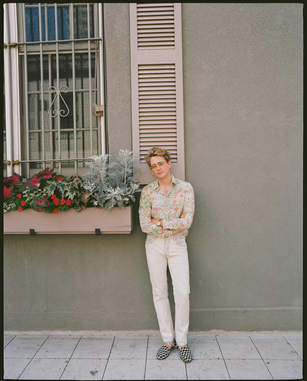 Edith Young photographs Luke Edward Hall in New York City