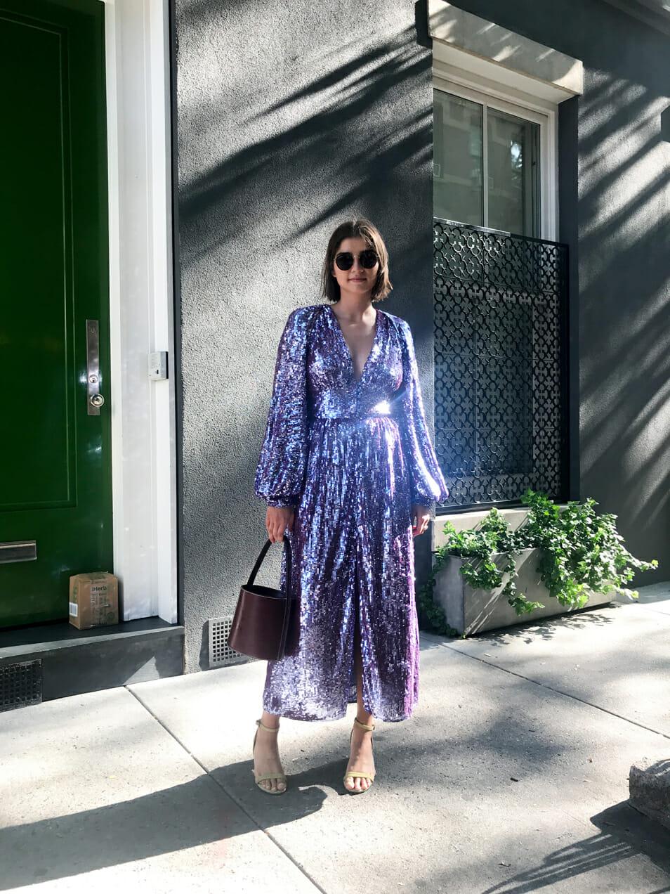 Juliana Salazar gets dressed for three weddings during wedding season