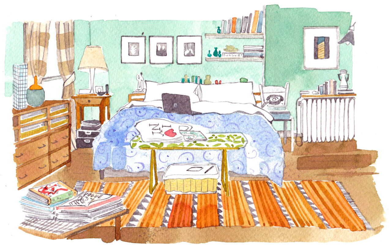 Sex and the City Apartment decor man repeller carrie bradshaw