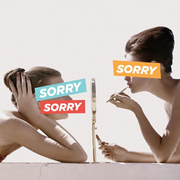 women makeup mirror