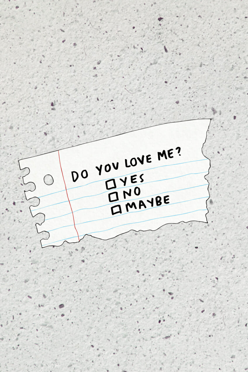 love note collage illustration