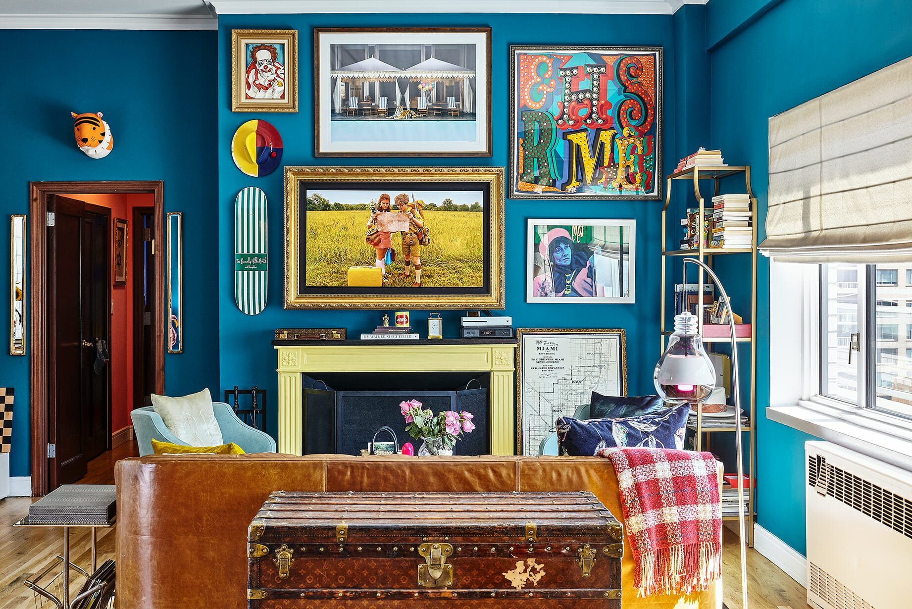 Turquoise Walls and Snake Rugs: The Royal Tenenbaum of Apartment Tours
