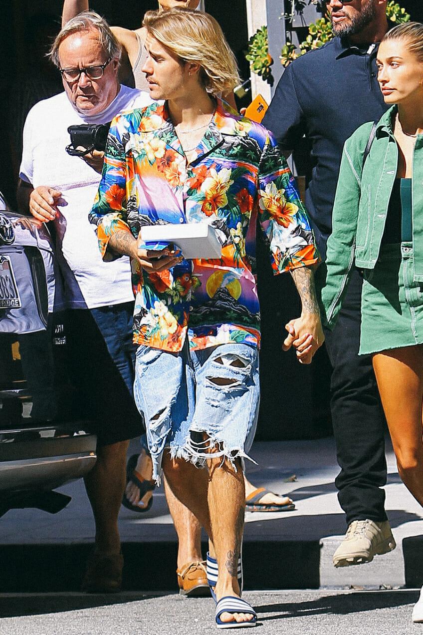 justin bieber hawaiian shirt
