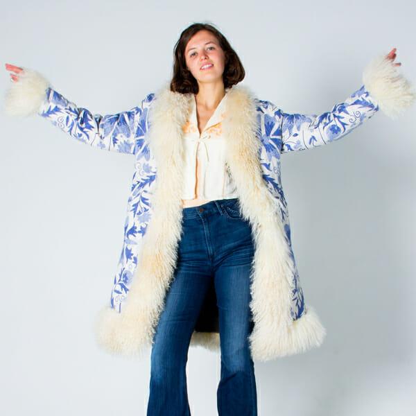 starling fur coat jeans