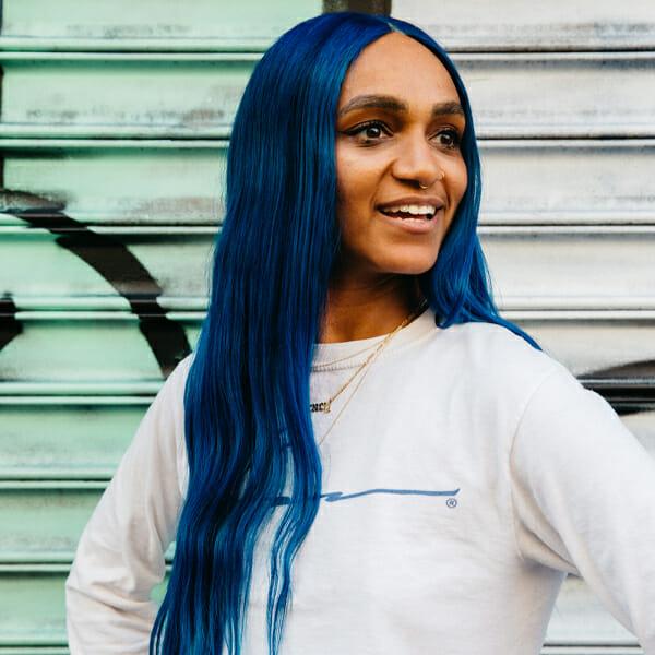 emma blue lace front wig