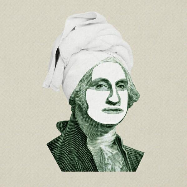 george washington hair towel face mask