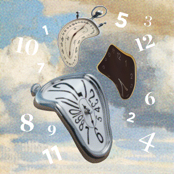 time realism clocks stopwatch dali numbers