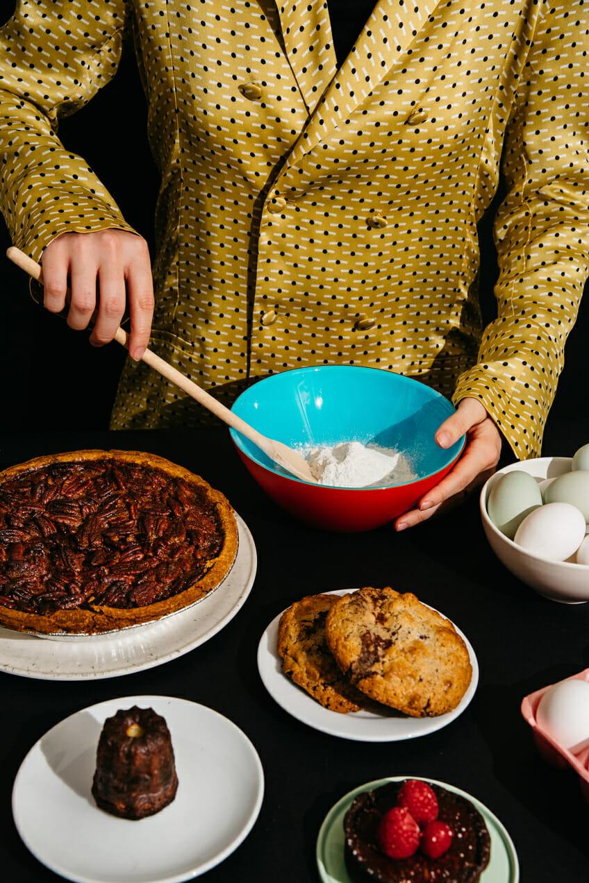 baking pecan pie eggs cookies canele tart