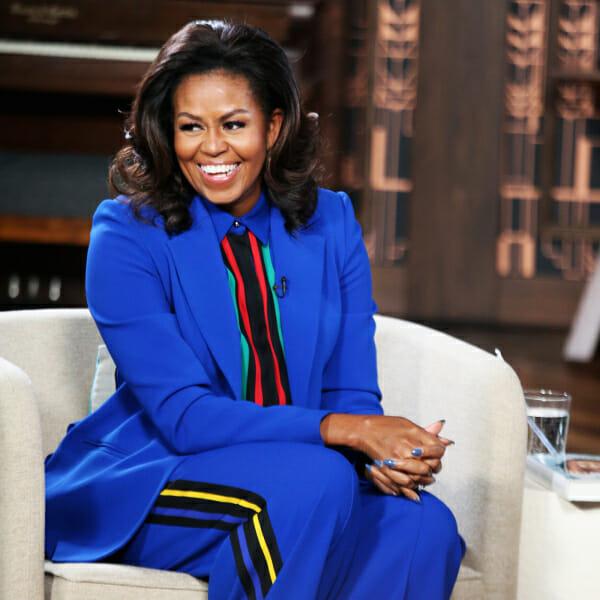 michelle obama blue suit