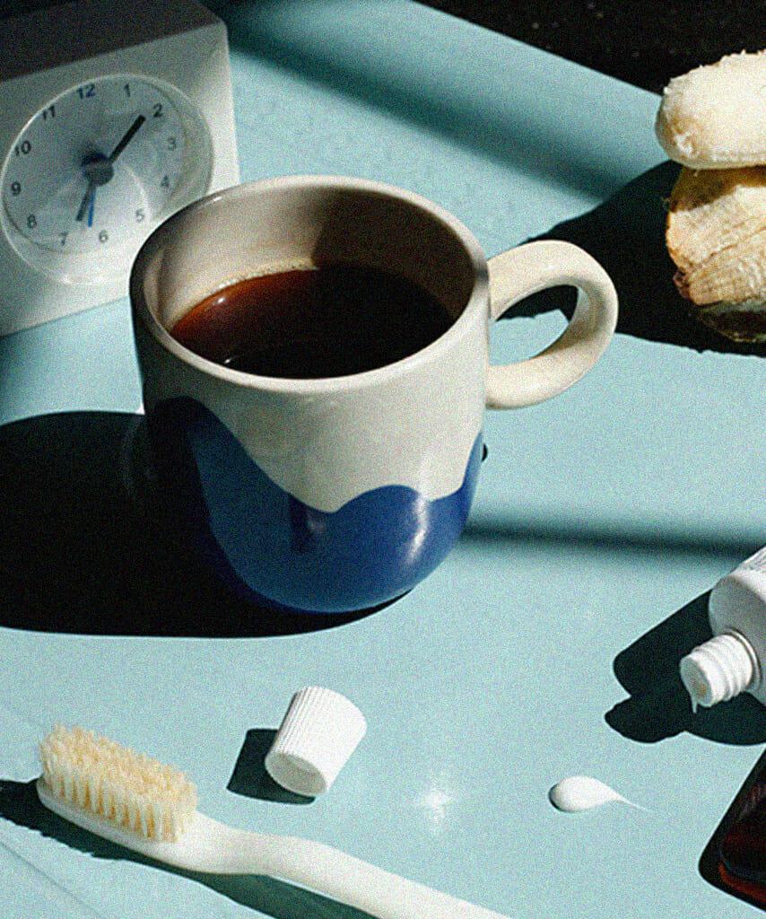 brushing your teeth before eating breakfast man repeller