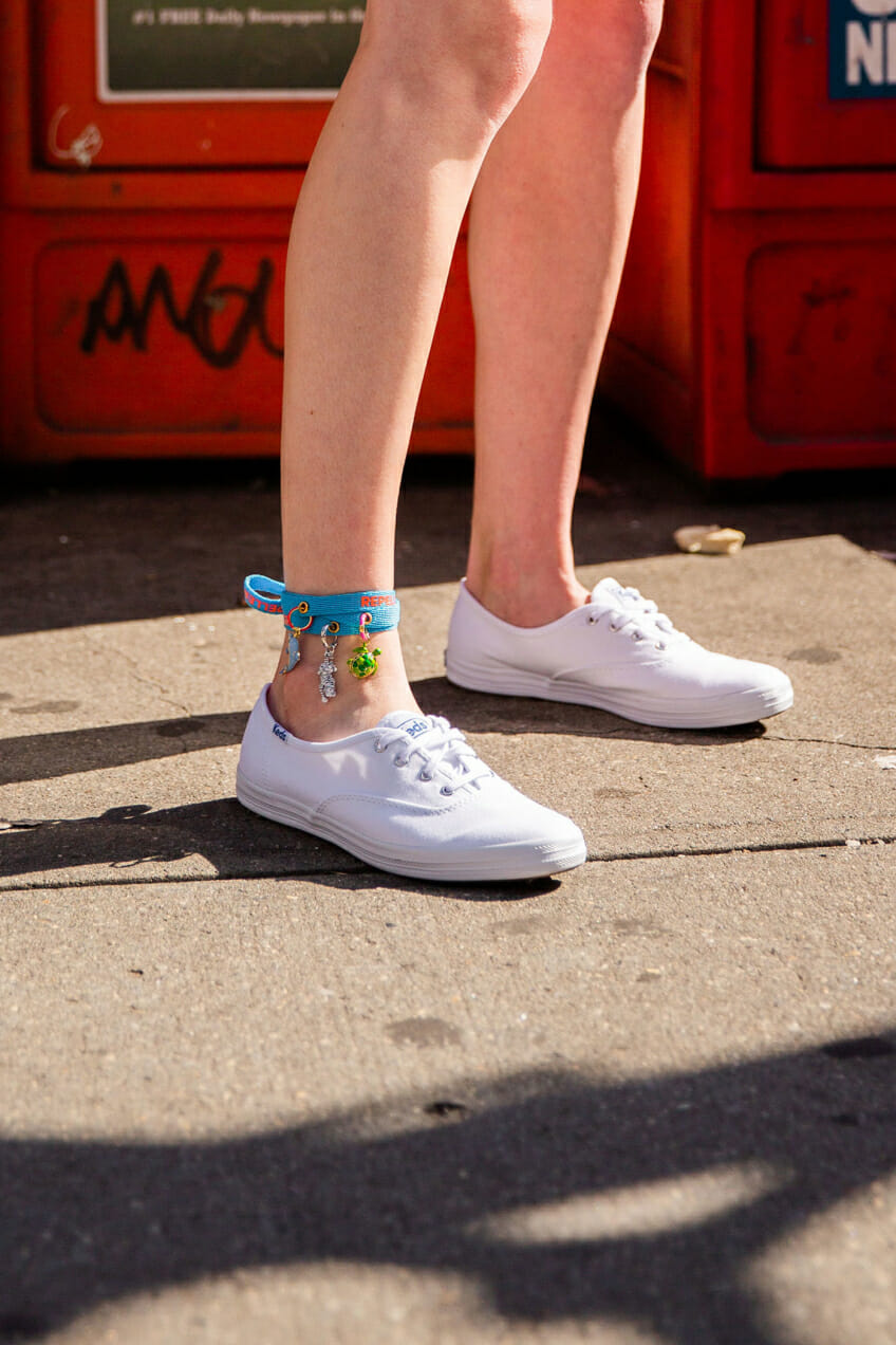 timeless in discovery era keds man repeller