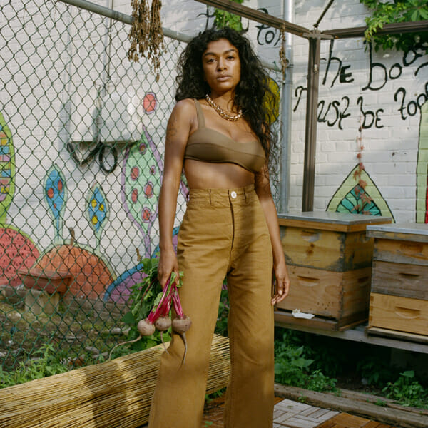 sustainable fashion shoot man repeller