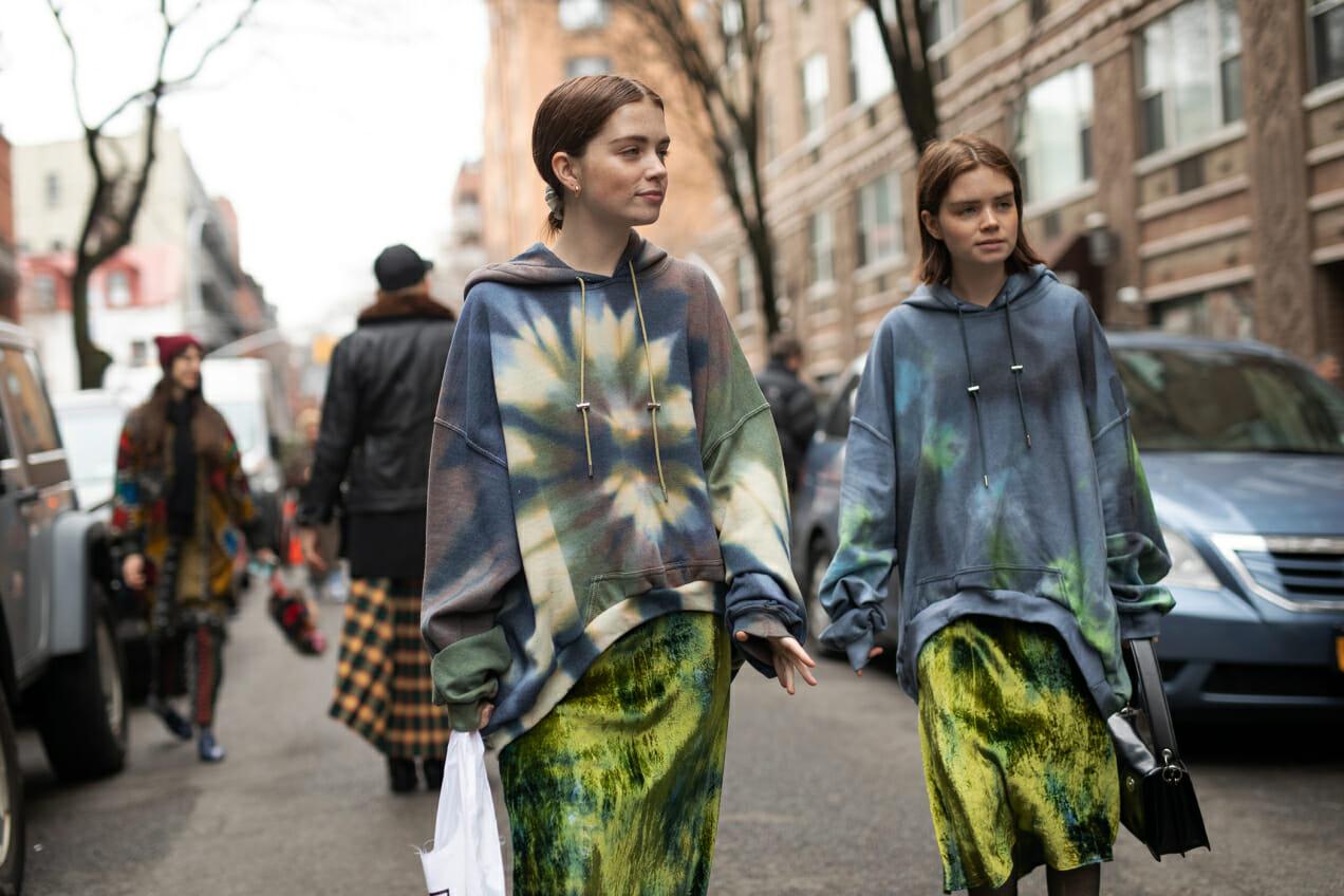 Tie Dye Trend Street Style Man Repeller