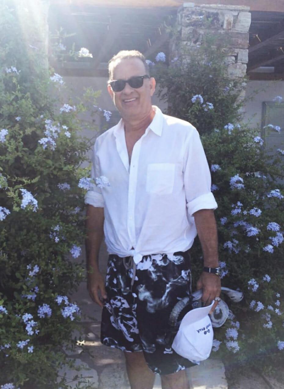 tom hanks hot girl summer tied shirt man repeller
