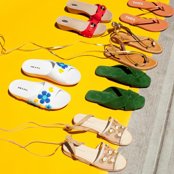 summer shoes travel man repeller