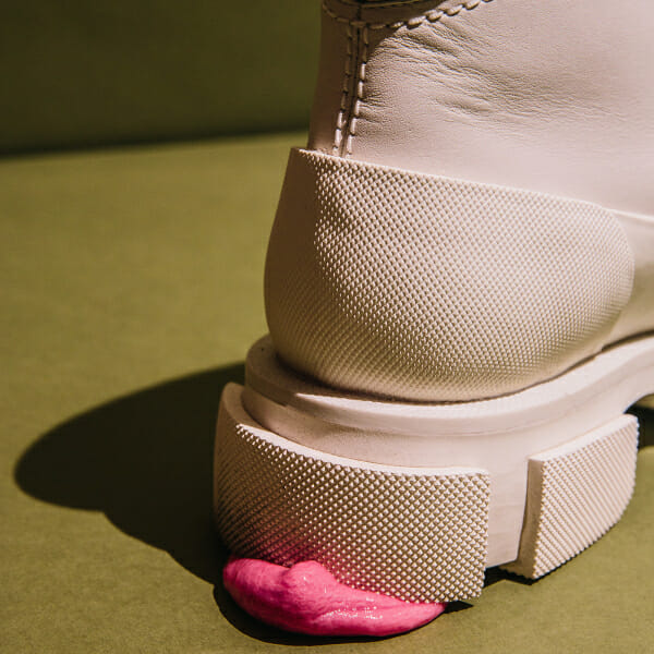 rubber sole shoes man repeller