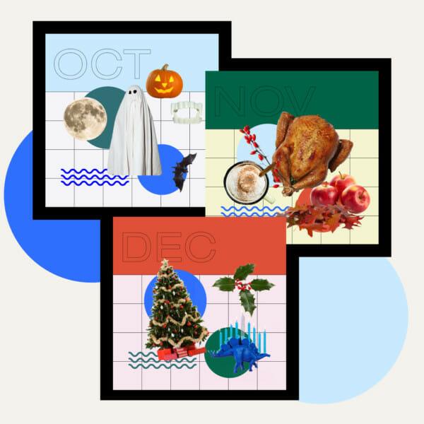 holidays collage