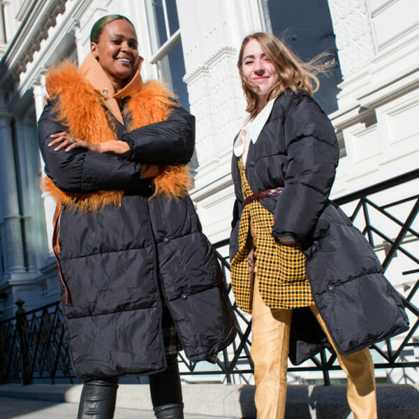 Crystal and Eliz Puffer Coats